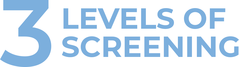 3 screening levels